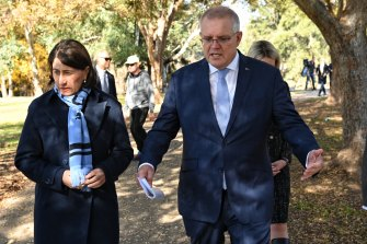Prime Minister Scott Morrison has strongly championed NSW Premier Gladys Berejiklian's handling of the pandemic.