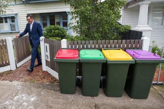 Reduce, recycle, re-puce: The new purple-top bin will be for glass recycling.