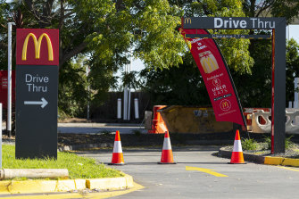 Campbellfield McDonald's was among 12 restaurants closed in Victoria on Sunday.
