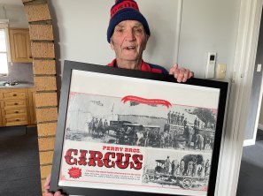 Michael Perry, 90, was brought up in the circus.