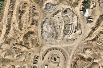 The Fimiston Super Pit open-cut gold mine in Western Australia.