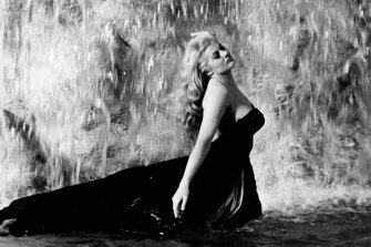 Banned: Anita Ekberg's famous splash in the Trevi Fountain during La Dolce Vita.