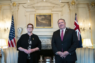 Foreign Minister Marise Payne met with US Secretary of State Mike Pompeo in Washington.