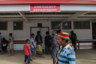 The Mount Hagen provincial hospital's emergency ward. The PNG government is worried about COVID-19 spreading from Port Moresby to the provinces.