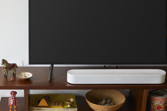 The Sonos Beam is small but smart, with much bigger bass than its frame would suggest.