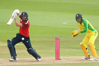 Dawid Malan was solid early on for England during the chase.