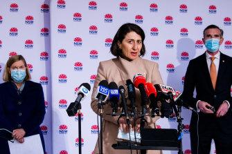 Premier Gladys Berejiklian at Wednesday's press briefing.