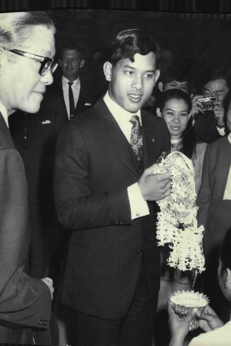 The Prince arrives in Sydney as an 18-year-old to begin his studies in 1970.