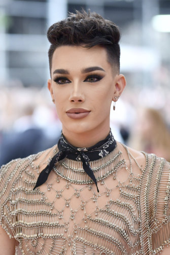 James Charles at the Met Gala.