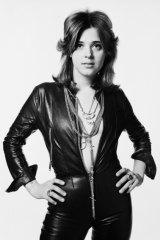 A typically leather-clad Suzi Quatro in 1973.