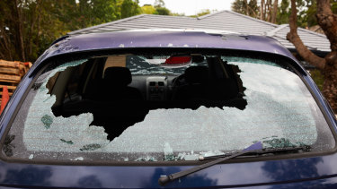 Major share: Three-quarters of insurance claims so far relate to vehicle damage.