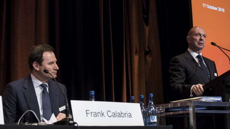 Origin CEO Frank Calabria and chairman Gordon Cairns voted against the energy company abandoning its lobby group memberships.