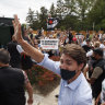 Justin Trudeau hit with gravel after he slams 'anti-vaxxer mobs'