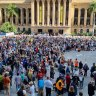 'Our first big strike since COVID': Thousands attend climate rally in Brisbane