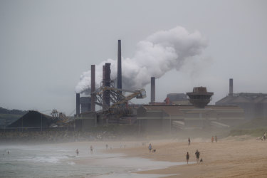 The steelworks and coal loading facility at Port Kembla. Coal mining operations are set to expand in the Illawarra region following Wollongong Coal's successful application to reopen the Russell Vale colliery.