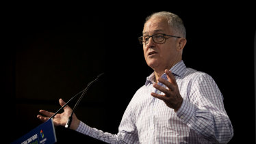 """Former prime minister Malcolm Turnbull this week said a """"renewable-led economic stimulus"""" would be much more effective than concentrating on gas."""