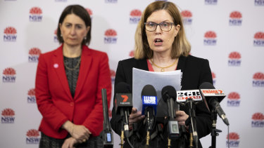 NSW Chief Health Officer Kerry Chant provides an update on Friday.