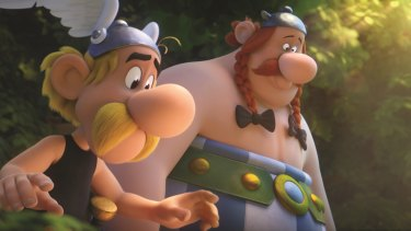 Asterix and Obelix in Asterix: The Secret of the Magic Potion.