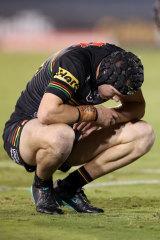 Matt Burton was shattered after last Sunday's golden-point thriller against Newcastle.