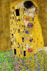 Gustav Klimt's 1908 painting, The Kiss.