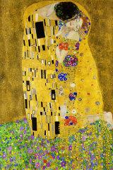 """Gustav Klimt's 1908 painting, """"The Kiss""""."""