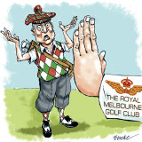 """Golf clubs in Melbourne have adopted """"no jab, no play"""" policies."""