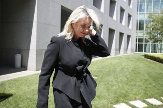 Nationals Senator Bridget McKenzie after resigning from her ministry over the sports rorts scandal in February.