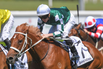 Hungry Heart races into Golden Slipper contention in the Sweet Embrace Stakes.
