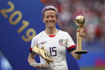 On top: USA star Megan Rapinoe.
