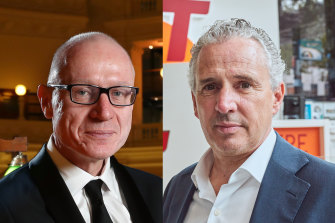 News Corp CEO Robert Thomson and Telstra CEO Andy Penn both dismissed speculation they wanted an exit strategy for Foxtel.