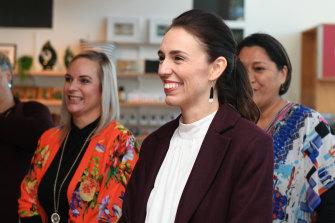 NZ PM Jacinda Ardern in Napier on Friday.