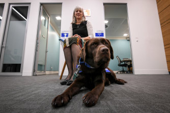 Julie Morrison, OPP Victims Engagement Co-ordinator, with Lucy.