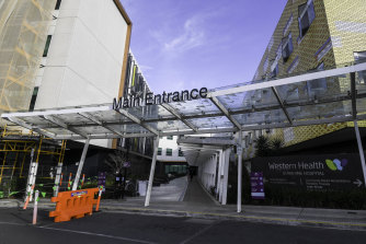 Three patients tested positive to COVID-19 at Sunshine Hospital in Melbourne's west.