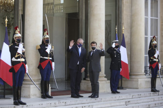 Au revoir to the new special relationship? Scott Morrison with French President Emmanuel Macron in June.