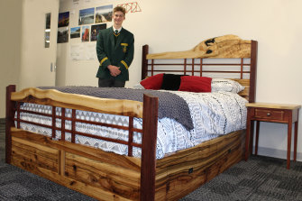 Tamworth student Liam Rodgers was blown away by his state rank, which he earned for making a queen-sized bed.