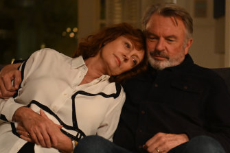 "Sam Neill with Susan Sarandon in Blackbird. Euthanasia should, he says, ""be considered a human right""."