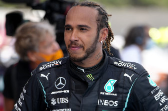 Lewis Hamilton after winning the Spanish Grand Prix.