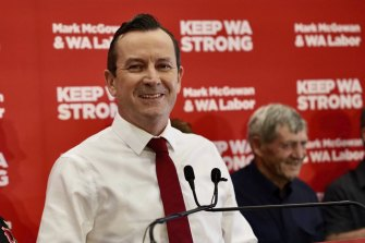 Premier Mark McGowan after winning the March election.