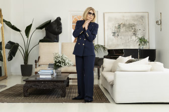 Carla Zampatti at her home in Woollahra, May 2020.