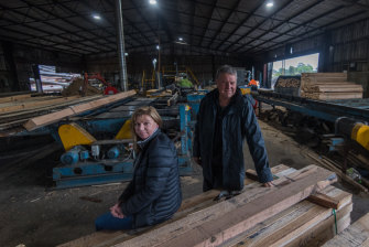 Longwarry Sawmilling Company owners Bruce Craig and Sandy Jubb think they'll be out of business in five years.