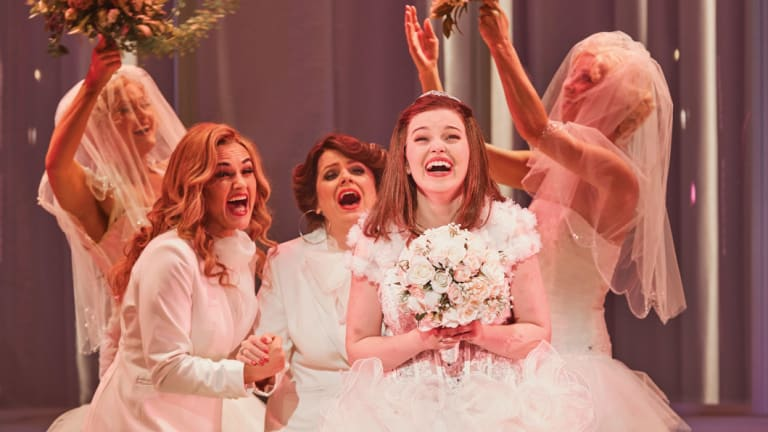 The stars ofMuriel'sWedding the Musical.