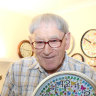 Meet the man who bedazzled the clocks of a Brisbane nursing home