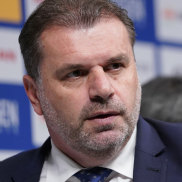 Thumbs up: Ange Postecoglou is making strides in Japan.