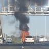 Inner City Bypass closed after car fire