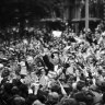 From the Archives, 1966: Melbourne goes wild for President Lyndon Johnson