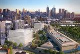 The Melbourne Arts Precinct including an 18,000 sqm public garden (artist impression).