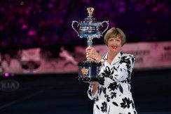 Tennis champion Margaret Court at the Australian Open last year.