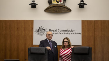 Aged care royal commissioners Tony Pagone andLynelle Briggs.
