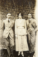 Sheila Chisholm with her Princes, Edward and Albert.