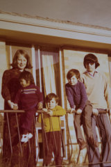 Chris Wilson and her family outside their Holder home in 1977.